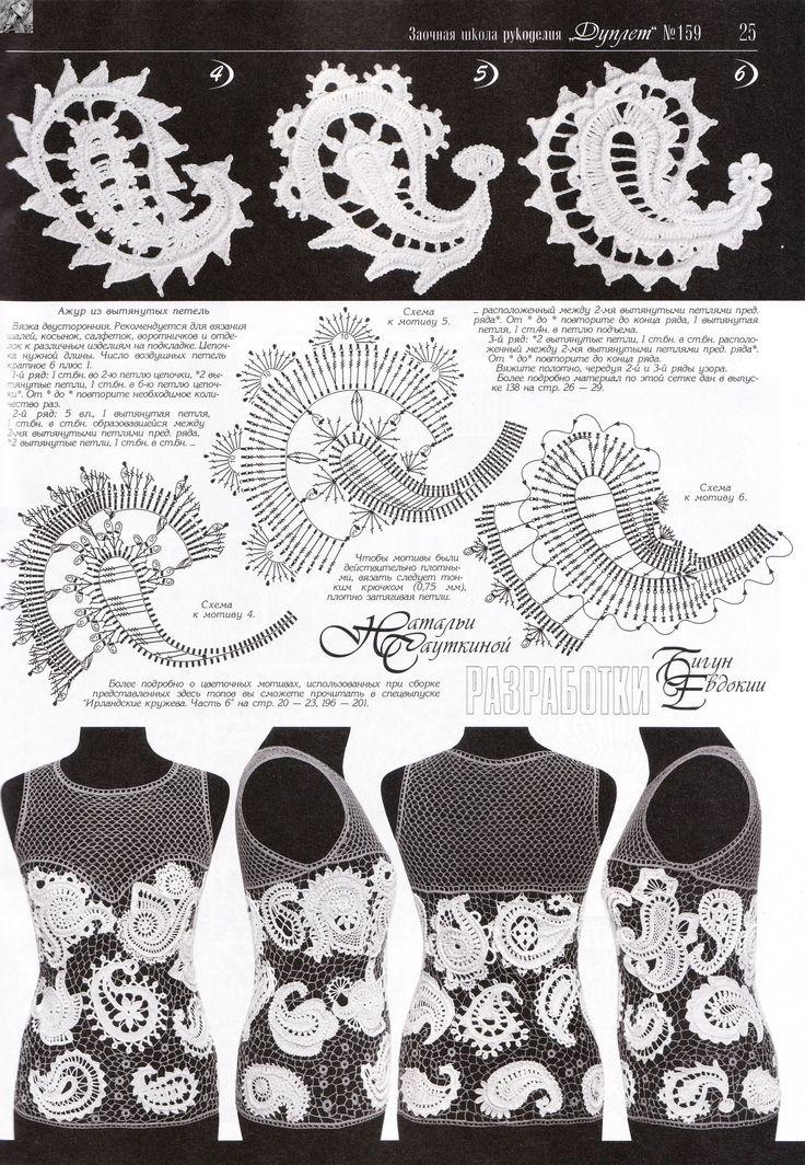 82 besten Paisley Crochet Bilder auf Pinterest   Irisch häkeln ...