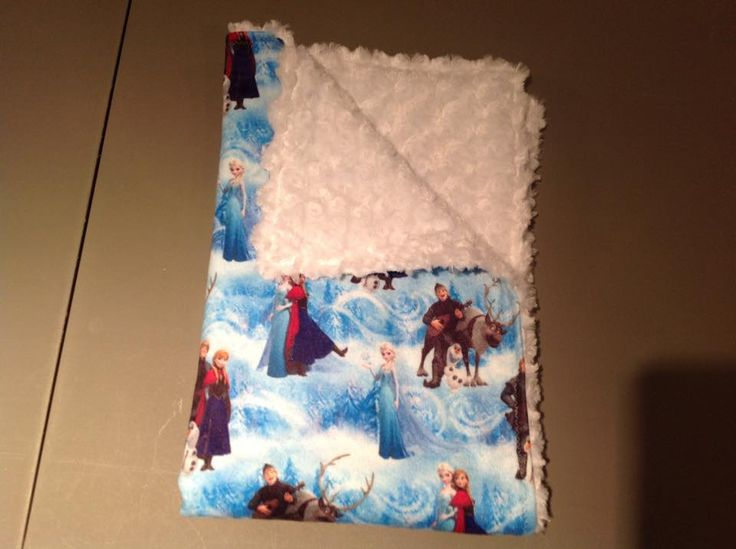Disney Frozen with white rose small blanket for travel or in the stroller