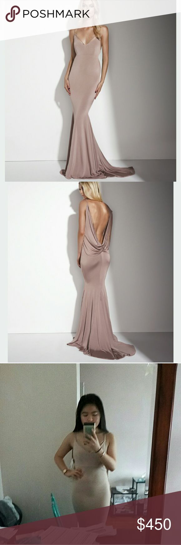 Gemeli Power nude Evgeni Dress Authentic and NWT Size 2 US / 6 AUS  Not Sherri Hill brand Is Gemeli Power brand Open cowl back  Stretchy fabric Wear to prom or any other special occasion! Original price of $850!!! Will negotiate price on M ercari Sherri Hill Dresses Prom