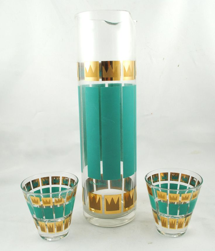 1950's 1950s Mid Century Glass Martini Set :: Etsy.