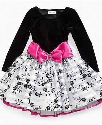 Bonnie Jean Girls Dress, Little Girls Long Sleeve Dress - Kids Dresses - Macy's