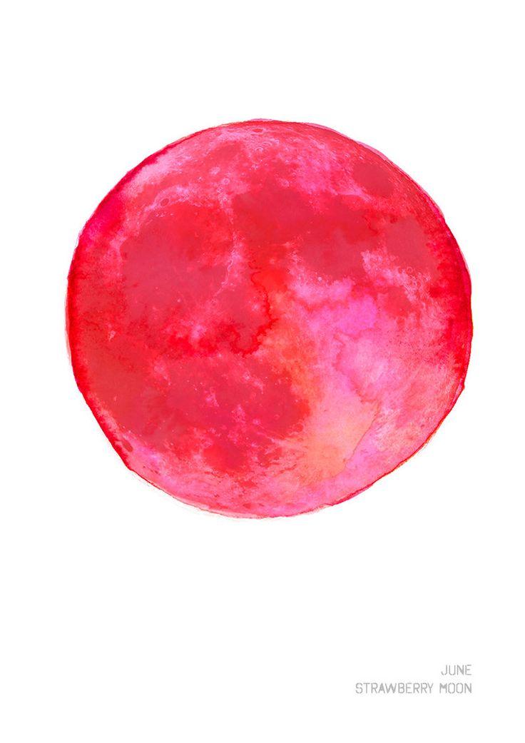 June Strawberry Moon Art Print Drawn Together Art Collective Shop.jpg