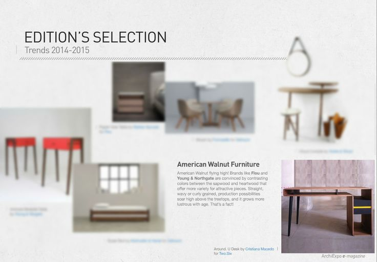 We are proud to announce that Around.U desk was featured as a trend for 2014-15 on ArchiExpo Magazine! #trends #twosixdesign #archiexpo #design