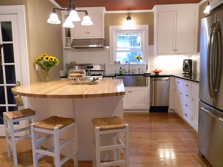 American Beech Wood Countertop For A Large Kitchen Island In Cranford New  Jersey With Photography, Information On Grothouse Food Safe Countertops.