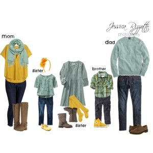 Teal and yellow for spring or fall