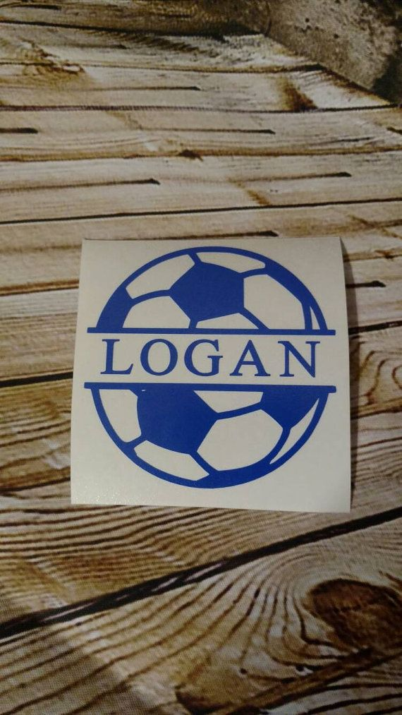 Soccer decal, personalized soccer decal, car decal, sports decal, yeti decal, cup decal, computer decal, water bottle decal