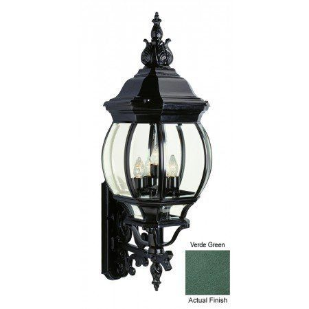 french outdoor lighting. trans globe 40522 vg classic five light french outdoor lantern verde green finish with lighting