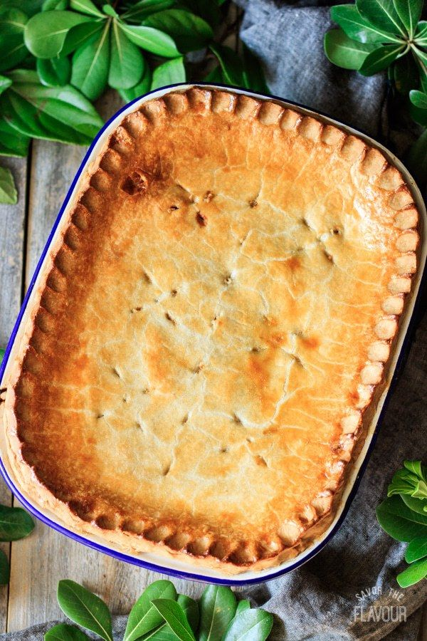 Chunky Beef And Potato Pie Recipe Hot Water Crust Pastry Beef And Potatoes Meat Pie