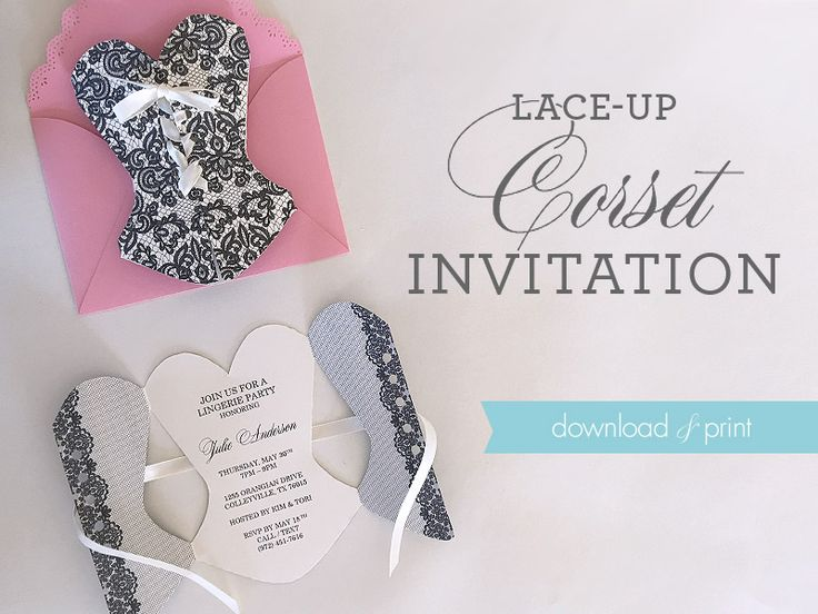 DIY Lace-Up Corset Invitation | Download & Print