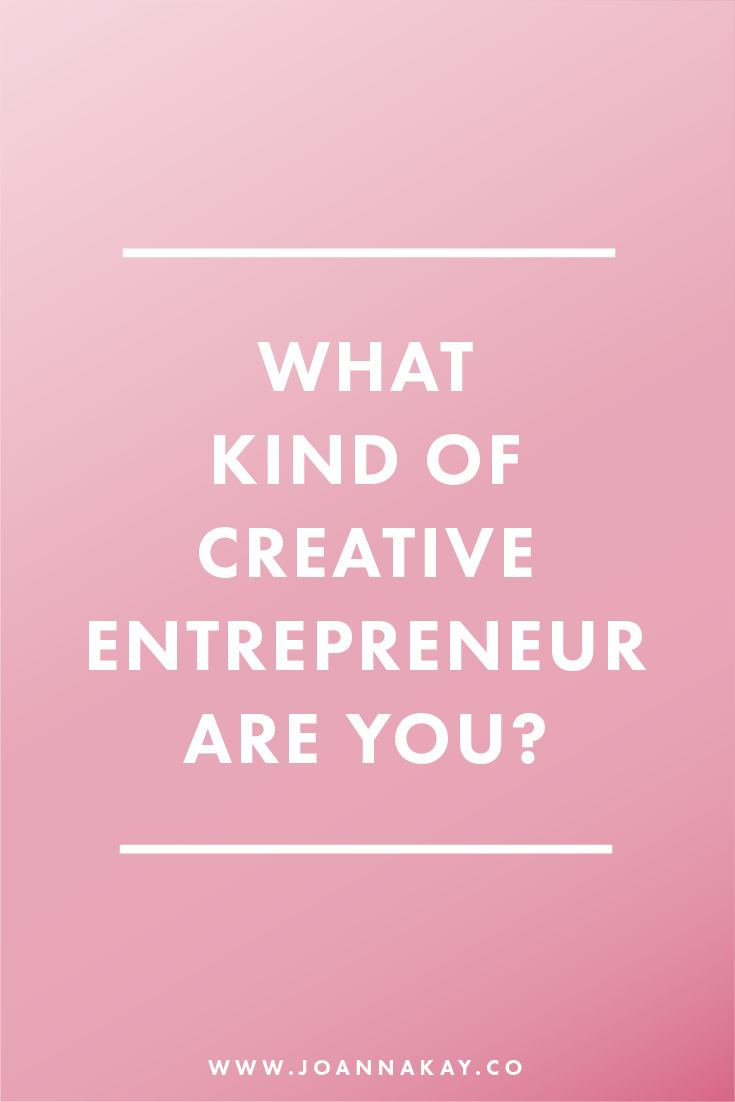 Ever wondered what kind of creative entrepreneur you would be? Take this fun quiz to find out!