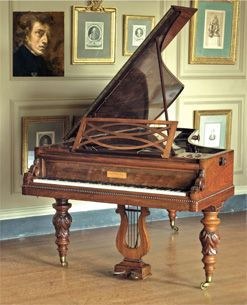 """Chopin's 1846 Pleyel Photo courtesy of Cobbe Collection Hear this piano play[*click link*] """"A jewel in the crown...Chopin's 1846 Pleyel...now beautifully restored by David Winston"""""""