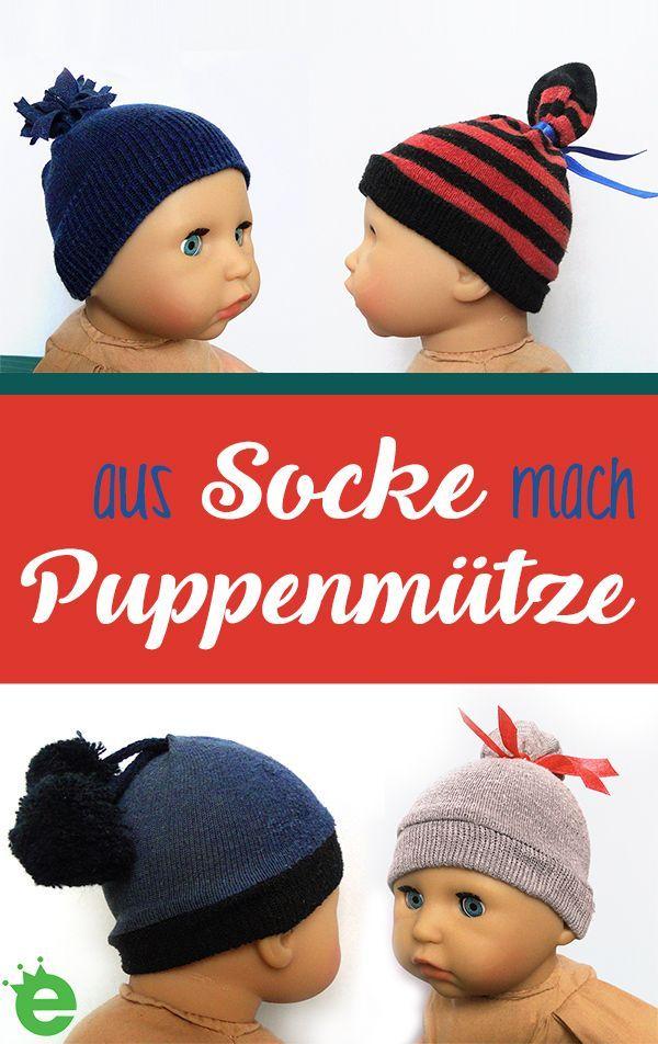 Socken Upcycling Ideen Puppenmutzen Und Haargummis
