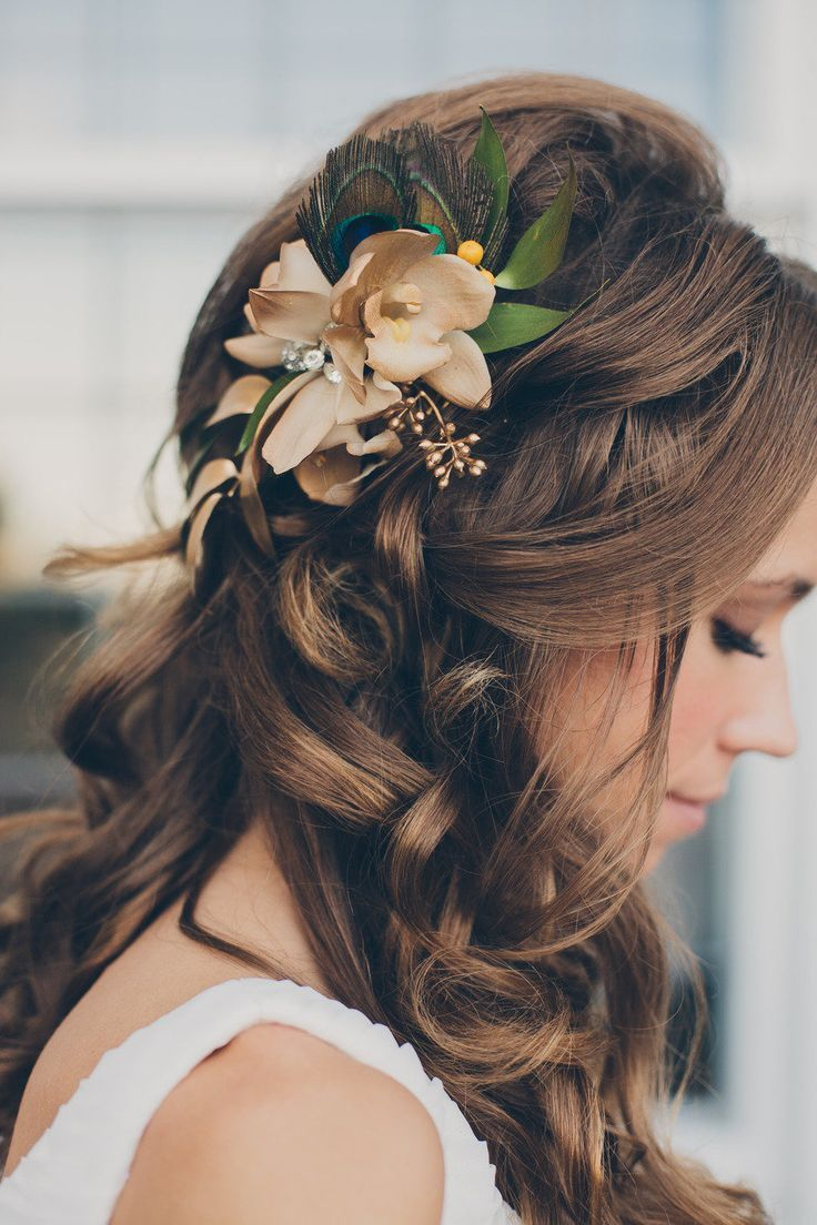 Gorgeous Wedding Hairstyle With Flower