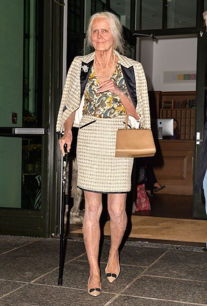 Halloween 2013: 95-Year-Old WomanHave you ever wanted to know what Heidi Klum will look like when she gets old? Here's your answer. Klum pulled all the stops to dress as an old woman, complete with age spots, varicose veins, and milky eyes. #refinery29 http://www.refinery29.com/2015/10/96482/best-heidi-klum-halloween-costume-pictures#slide-18