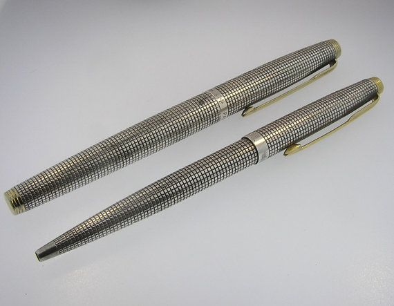 Sterling Silver Parker Vintage Pen Set - Fountain ...