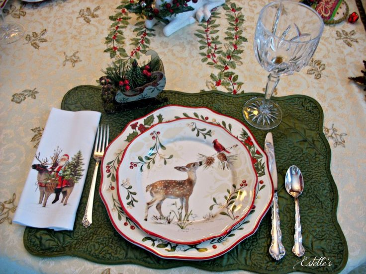 115 best Set the Christmas Table images on Pinterest | Christmas ...