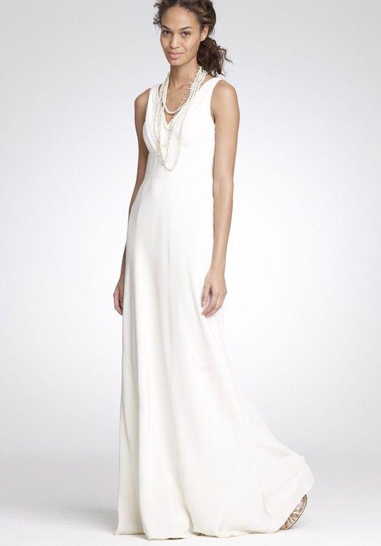 Funky Sheath / Column Chiffon Straps Floor Length Beach Wedding Dress - Wedding Dresses