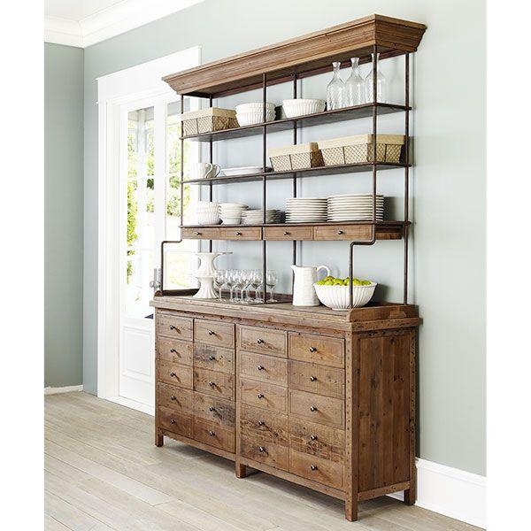 Reclaimed Pine Hutch . Rustic Elegance . wisteria.com