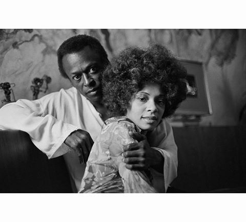 Miles Davis and his wife, funk singer, Betty Davis at their home in New York City, October 1969