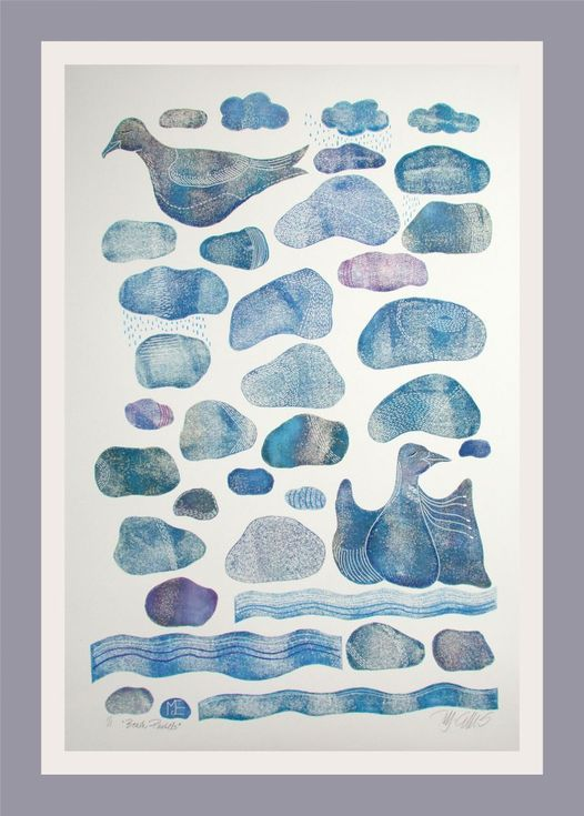 Buy Beach Pastels, XL linocut, mono print, Linocut by Mariann Johansen-Ellis on Artfinder. Discover thousands of other original paintings, prints, sculptures and photography from independent artists.