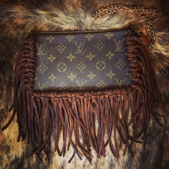 Fringe Authentic Louis Vuitton Wristlet Fringe Authentic Louis Vuitton Wristlet. Will provide more pictures and authentication papers upon request. Louis Vuitton Bags Clutches & Wristlets