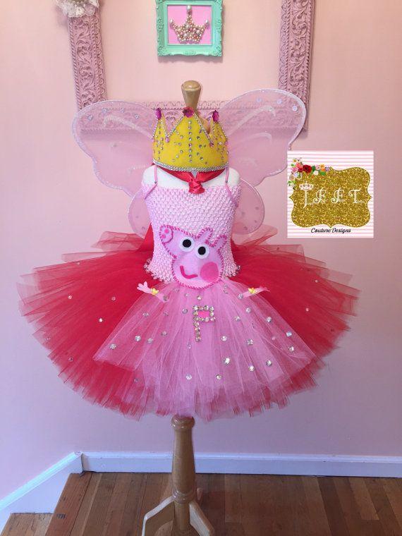 Peppa Pig Tutu, Peppa Pig vestido, vestido de peppa pig, decoraciones de la fiesta de peppa pig, traje del cerdo del peppa, vestido de fiesta de cerdo de peppa, apenas para la diversión