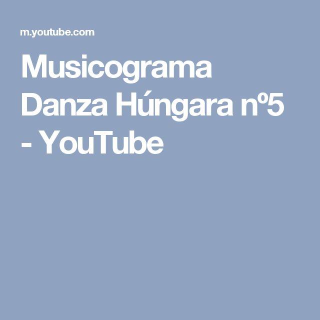 Musicograma Danza Húngara nº5 - YouTube