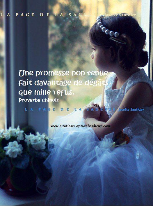 """Questionnaire de Proust : Ma devise/my motto? Réponse de Proust : """"J'aurais trop peur qu'elle ne me porte malheur."""" Ma réponse : """"Toujours tenir ses promesses"""". And what about you ? Proverbe chinois"""