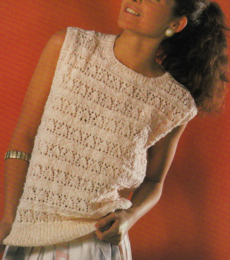 Vintage Knitting Pattern Instructions to Make a Ladies Spring/Summer Jumper/Top