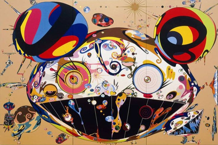 "Takashi Murakami ^ Tan Tan Bo, 2001. ""dobojite,"" or ""why?"" Mr. DOB. (1996) http://www.moma.org/collection/works/88960   Gallery: https://www.perrotin.com/artists/Takashi_Murakami/12#images"