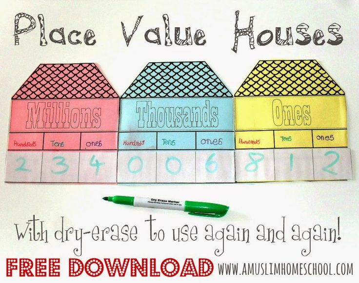Free Worksheets » Place Value Houses Worksheets - Free Math ...