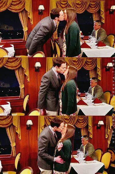 the Shamy, the kiss. (Sheldon, Amy, The Big Bang Theory)
