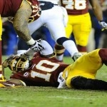 Robert Griffin III's Knee Injury: Pride Cometh Before The Fall - No matter who you think is at fault for Washington Redskins Quarterback Robert Griffin III's knee injury, there's only one real culprit here no one is talking about-pride. @UltimateRedskin on Twitter