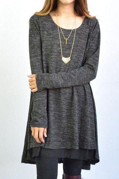 Long Sleeve Scoop Neck Dress