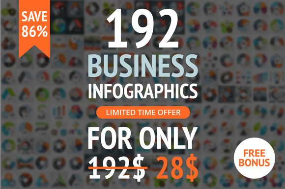 Business Presentation Infographics by theseamuss on Creative Market