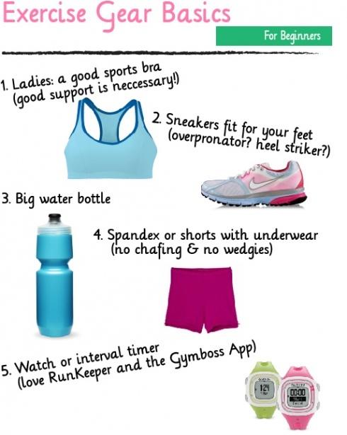 Exercise Gear Basics #beginners #fitness #exercise