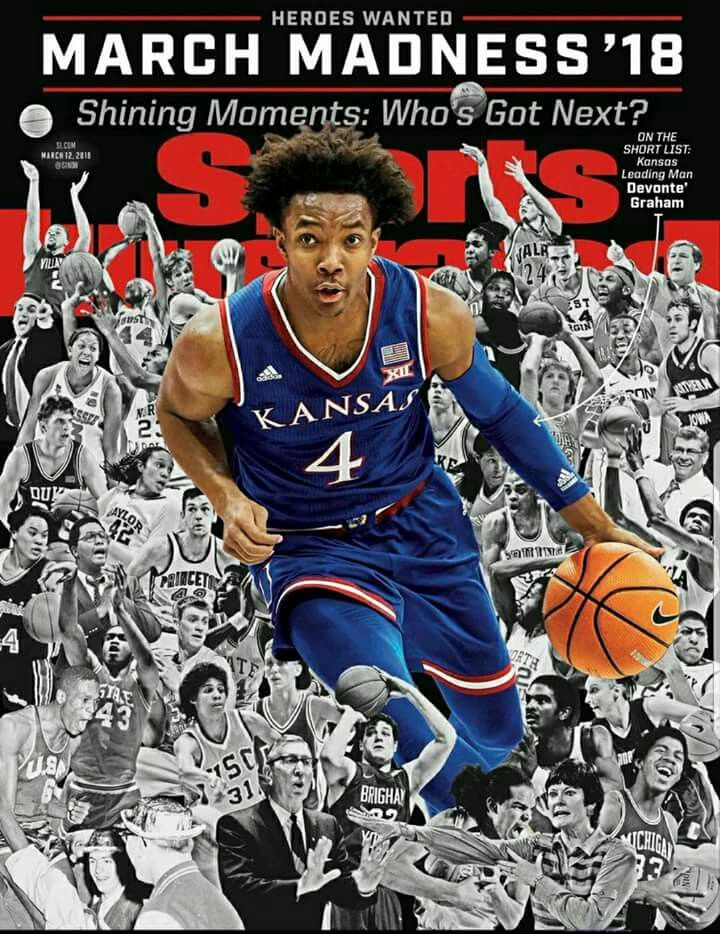 Pin By Tracie Craft On Rock Chalk Jayhawk Ku Ncaa March Madness Basketball Kansas State Basketball Sports Illustrated Covers