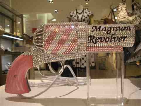 //Icy Icy Bling Couture//  Can you believe this is a hairdryer? yeah indeed a CUSTOM PISTOL HAIRDRYER.