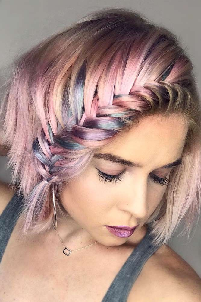 81f08ac8 53 Short Hairstyles for Women 2019 That You Can Master | Hair cuts and  colours | Braids for short hair, Hair, Short hair styles easy