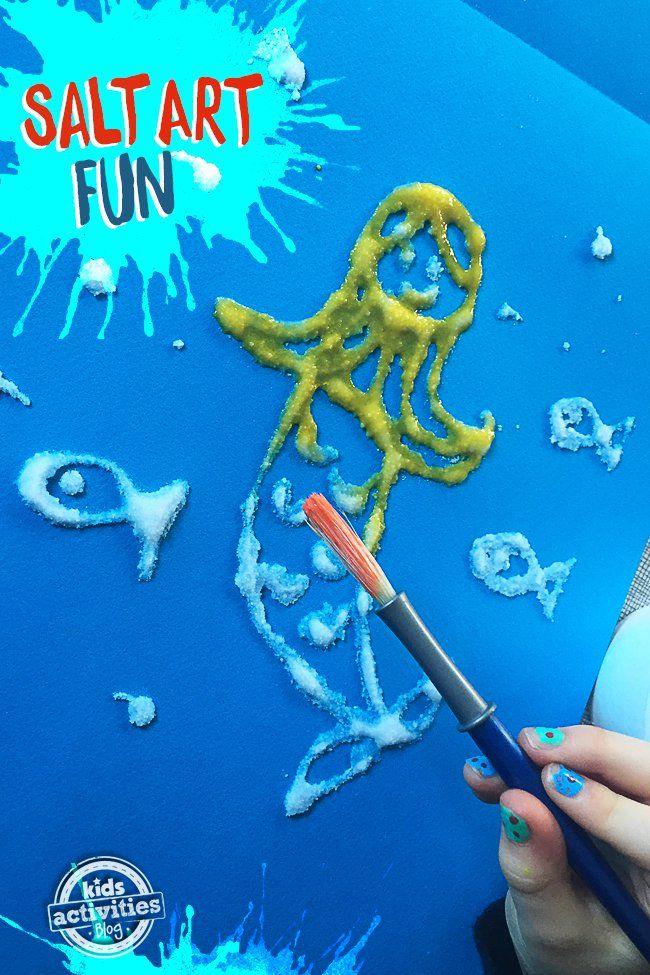 Salt Art Fun � Process Art For Your Little Ones