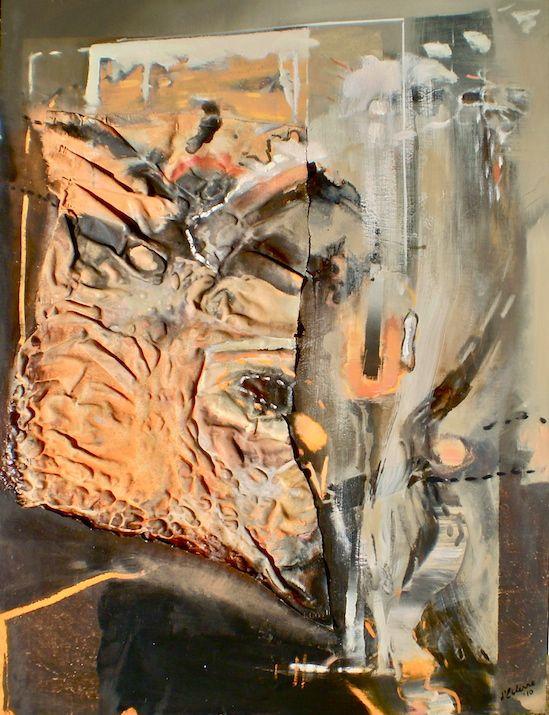 ELAINE d'ESTERRE - Path through a Billabong, 2010, canvas, oil on board 120x90 cm by Elaine d'Esterre at http://elainedesterreart.com and http://www.facebook.com/elainedesterreart/ and http://instagram.com/desterreart/