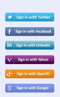 Integration of Third party login's(like Google, Facebook, Yahoo, Twitter) in Asp.net