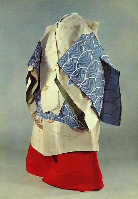 A lady in the service of the Imperial Court.   Heian era costume in Japan.