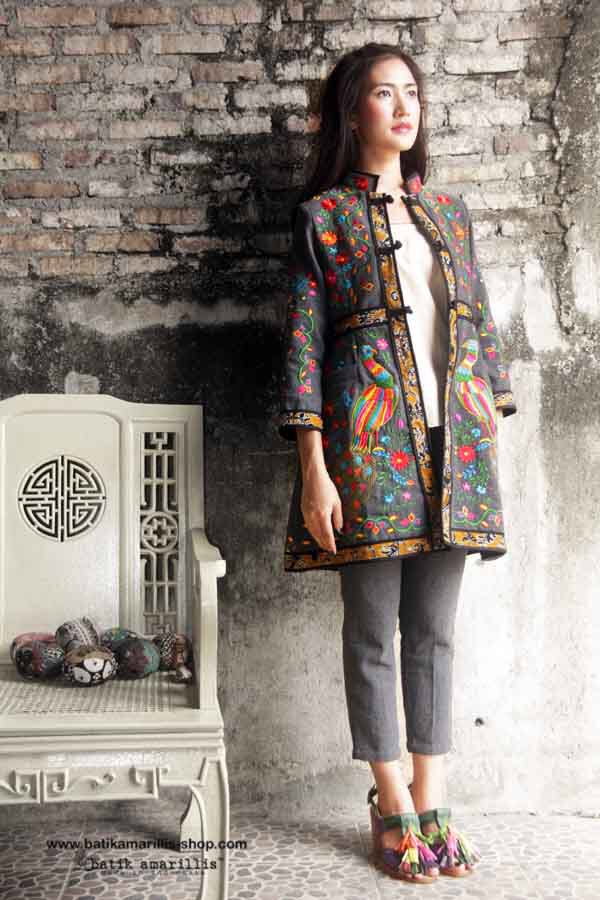 Batik Amarillis Made in Indonesia  .....this is when Indonesia's traditional textile meets Mexican embroidery