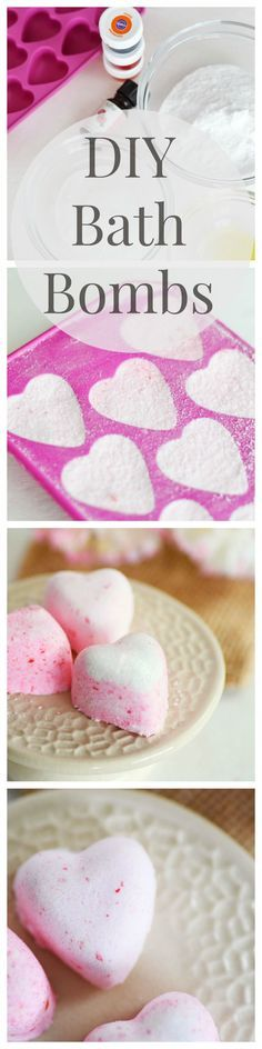 DIY Bath Bomb Fizzies Made with Baking Soda, essential oils, and Citric Acid. Great for Mother's Day Gifts or a fun DIY project.