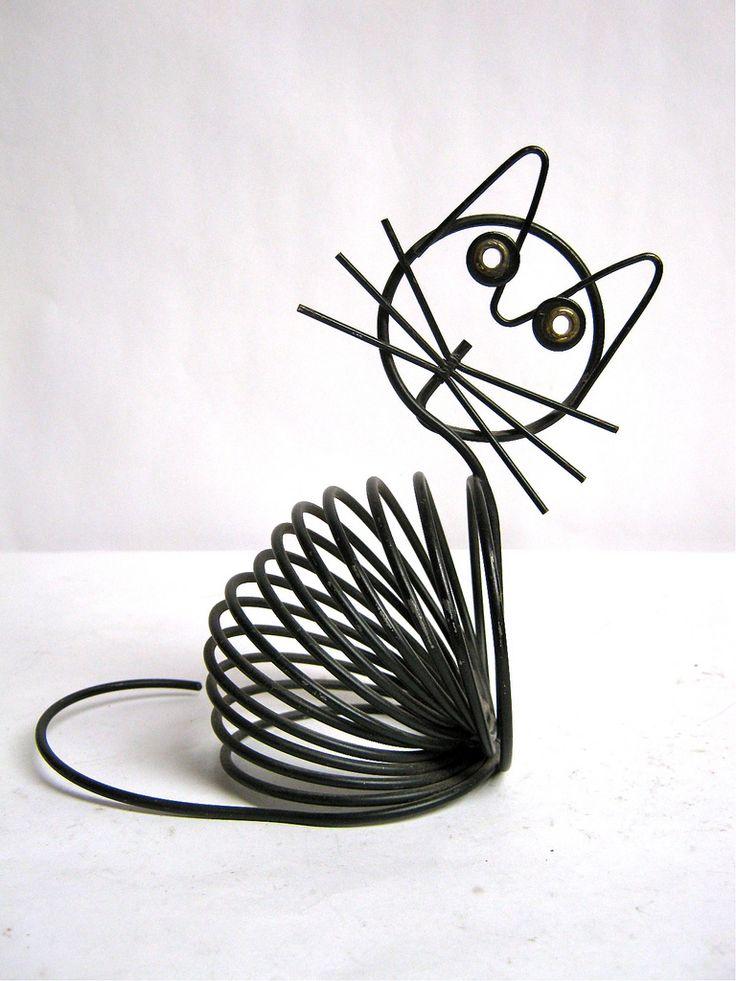 vintage wire cat envelop holder | Flickr - Photo Sharing!