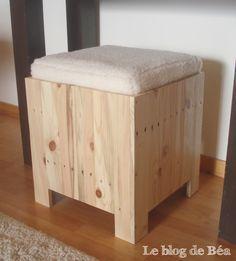 Diy tabouret coffre en bois de palette dom o conseils for Bricolage bois meuble