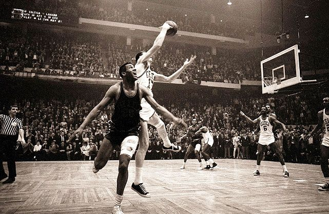 Eastern Conference Finals, April 15, 1965 Leading 110-109, Boston Celtics guard John Havlicek stole the ball on the inbounds pass from the Philadelphia 76ers to secure the Celtics victory. The Celtics would go on to the NBA Finals, where they would defeat the Lakers in five games.