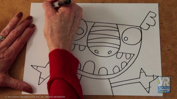 Teaching Kids to Draw: How to Draw a Monster (+playlist)