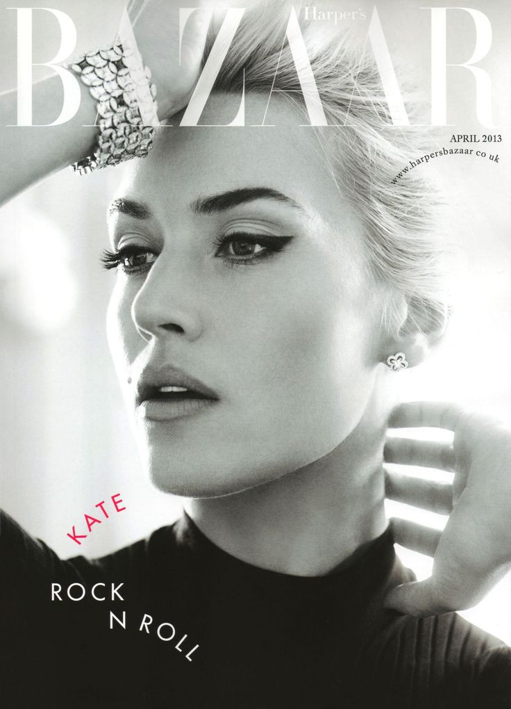 "Kate Winslet on ""Harper's Bazzar"" UK cover, April 2013"